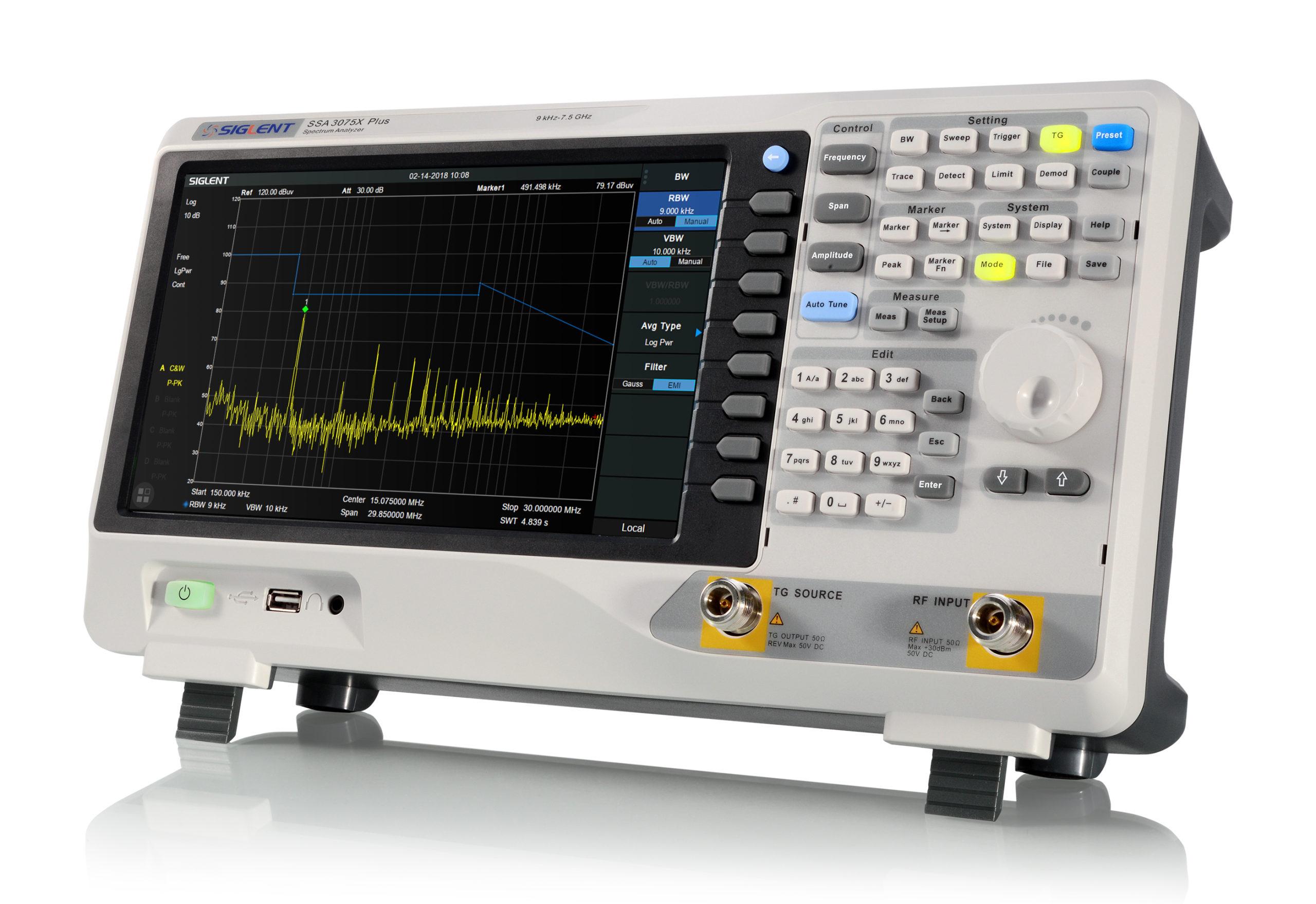 Economical SSA3075X Plus 7.5GHz Spectrum Analyzer