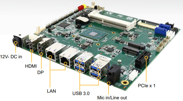 Winmate IP70 is a  Mini-ITX board equipped with Apollo Lake Pentium