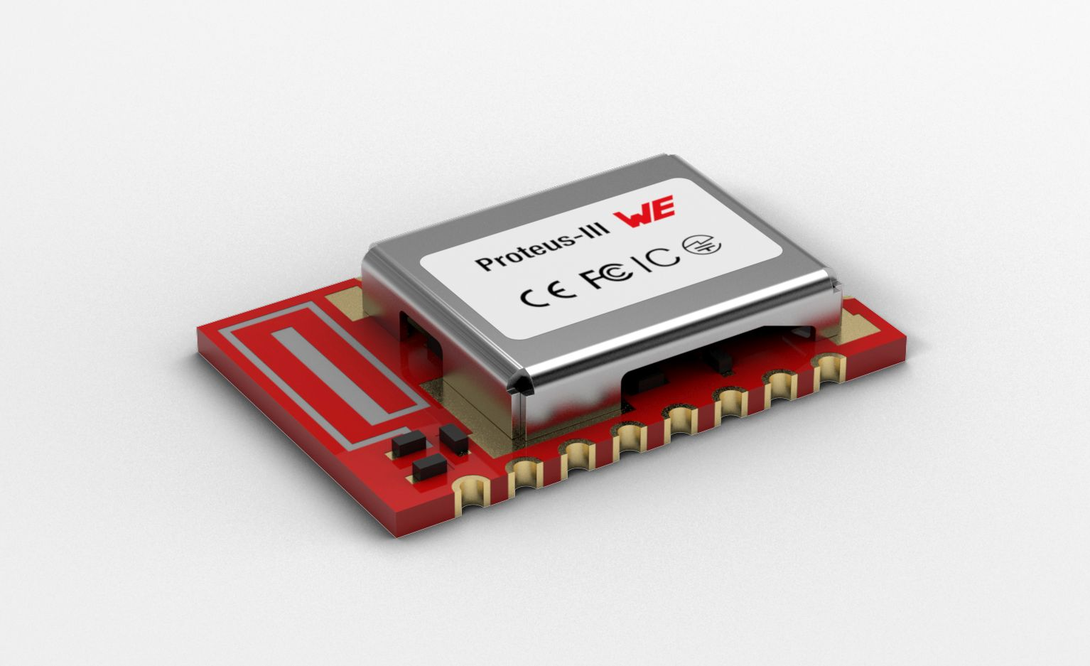 BLE modules include antenna, encryption technology, six configurable I/O pins