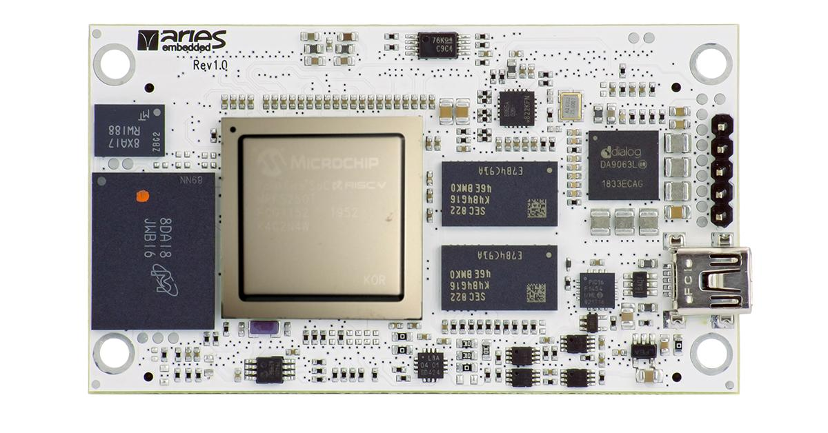 Aries Launches RISC-V based PolarFire SoC module