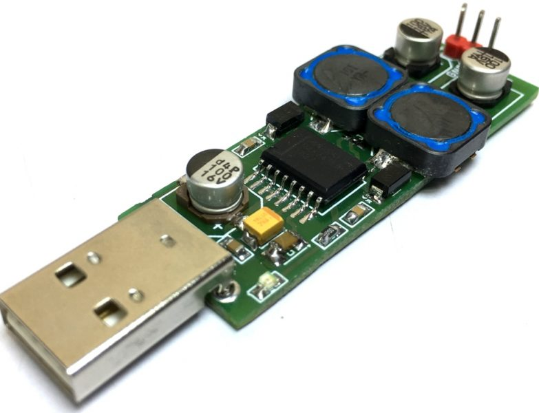 USB (5V) to Dual Output +/-15V or +/-12V Step-Up DC-DC Converter