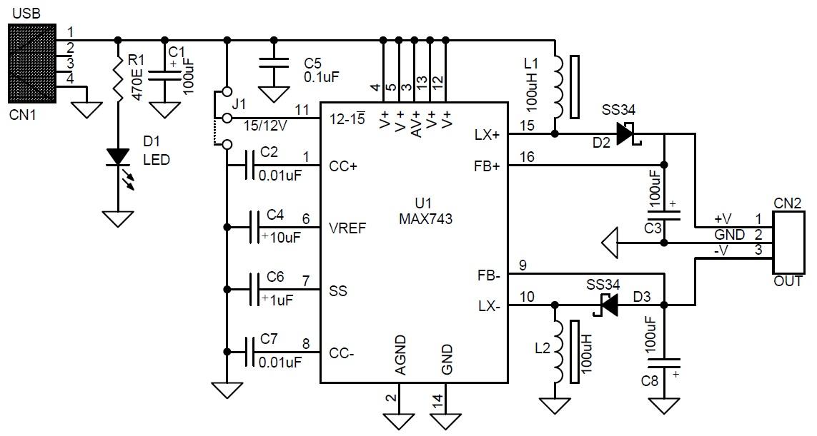 usb  5v  to dual output