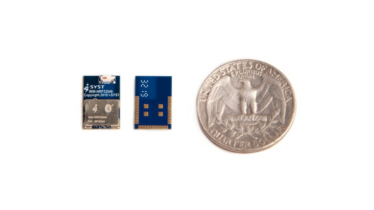 The new BLYST840 packs a surprising amount of IoT hardware into its tiny, fingertip size