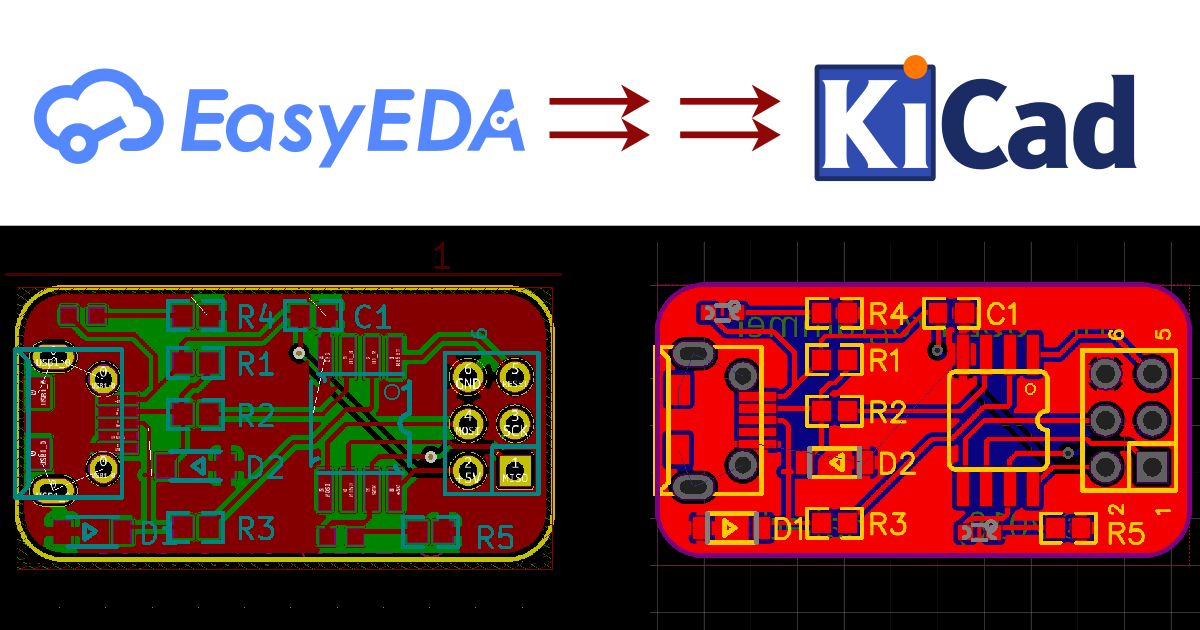Convert EasyEDA files to KiCad with just one click
