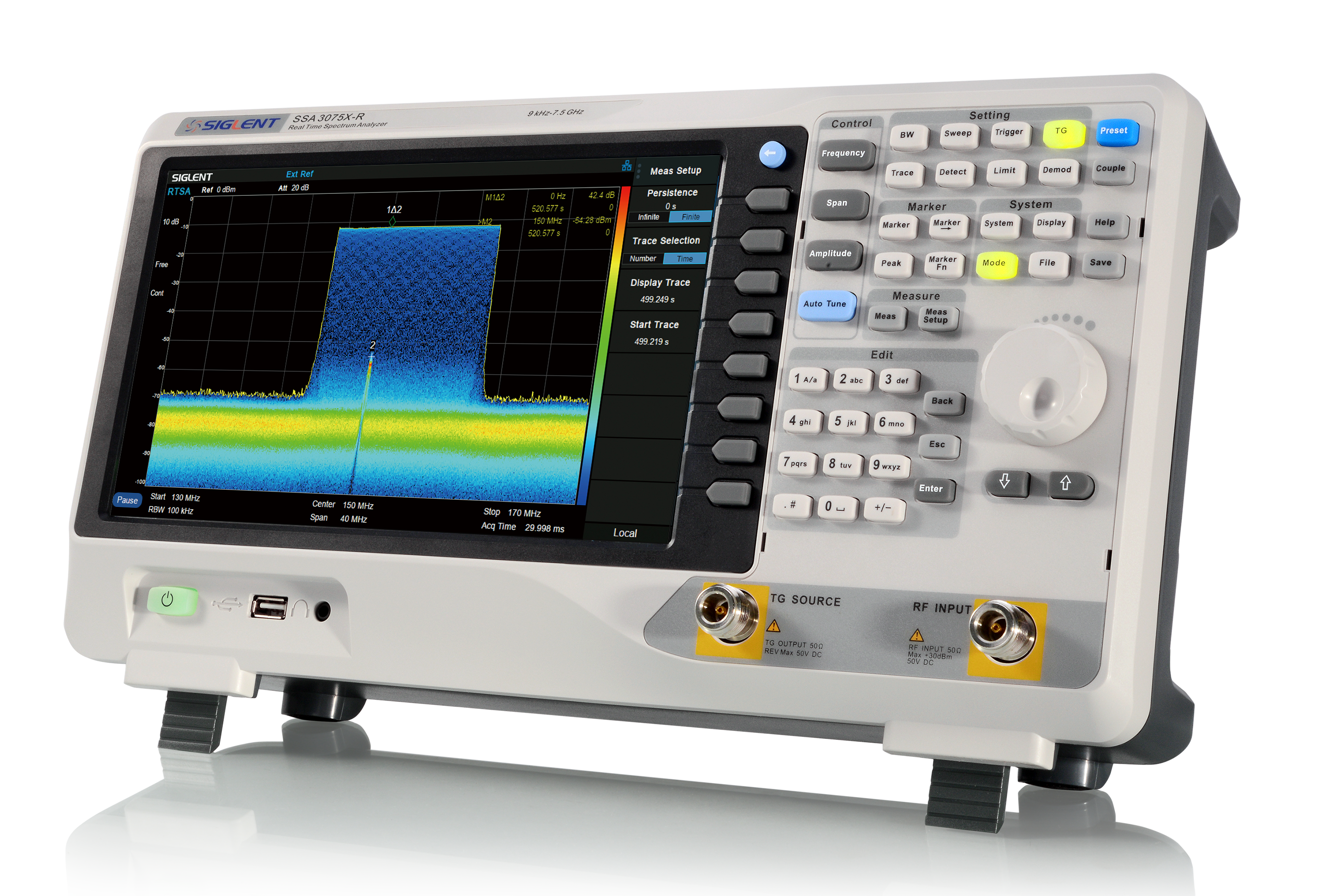 Economical SSA3075X-R 7.5GHz Real-Time Spectrum Analyzer