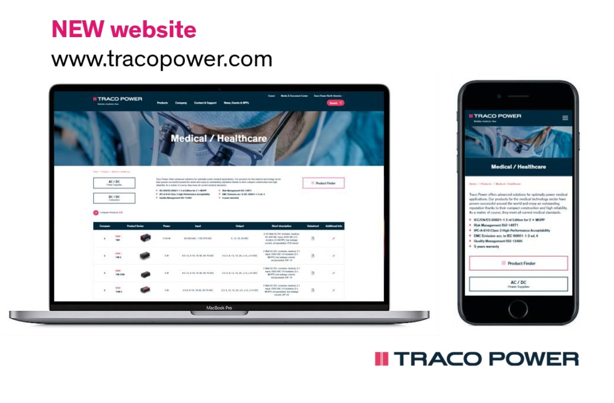 Traco Power launches new website www.tracopower.com