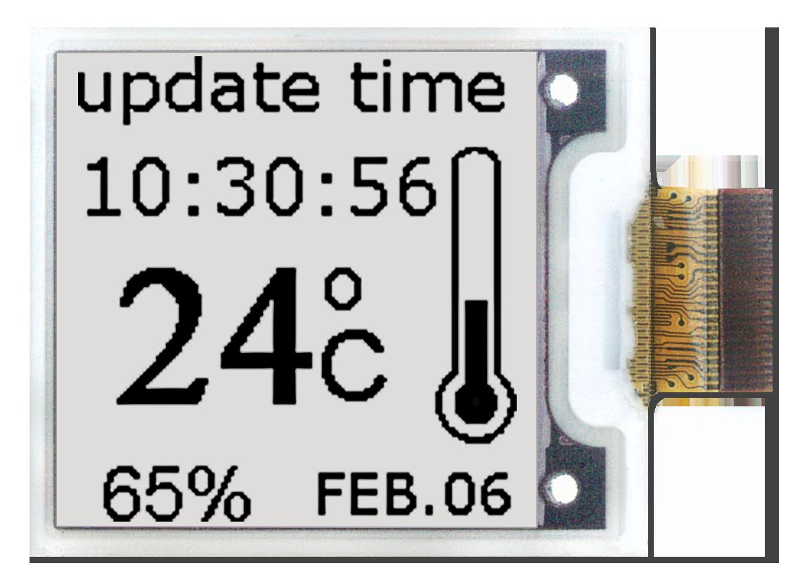 Aurora Mb E-Paper is an intelligent monochrome e-paper display