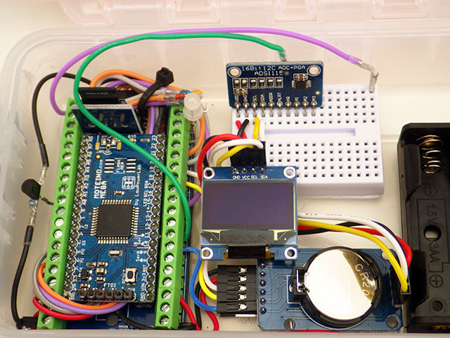 Building an ATmega 1284p based data logger