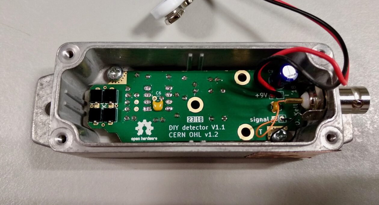 DIY Silicon Photodiode Particle Detector directly from CERN