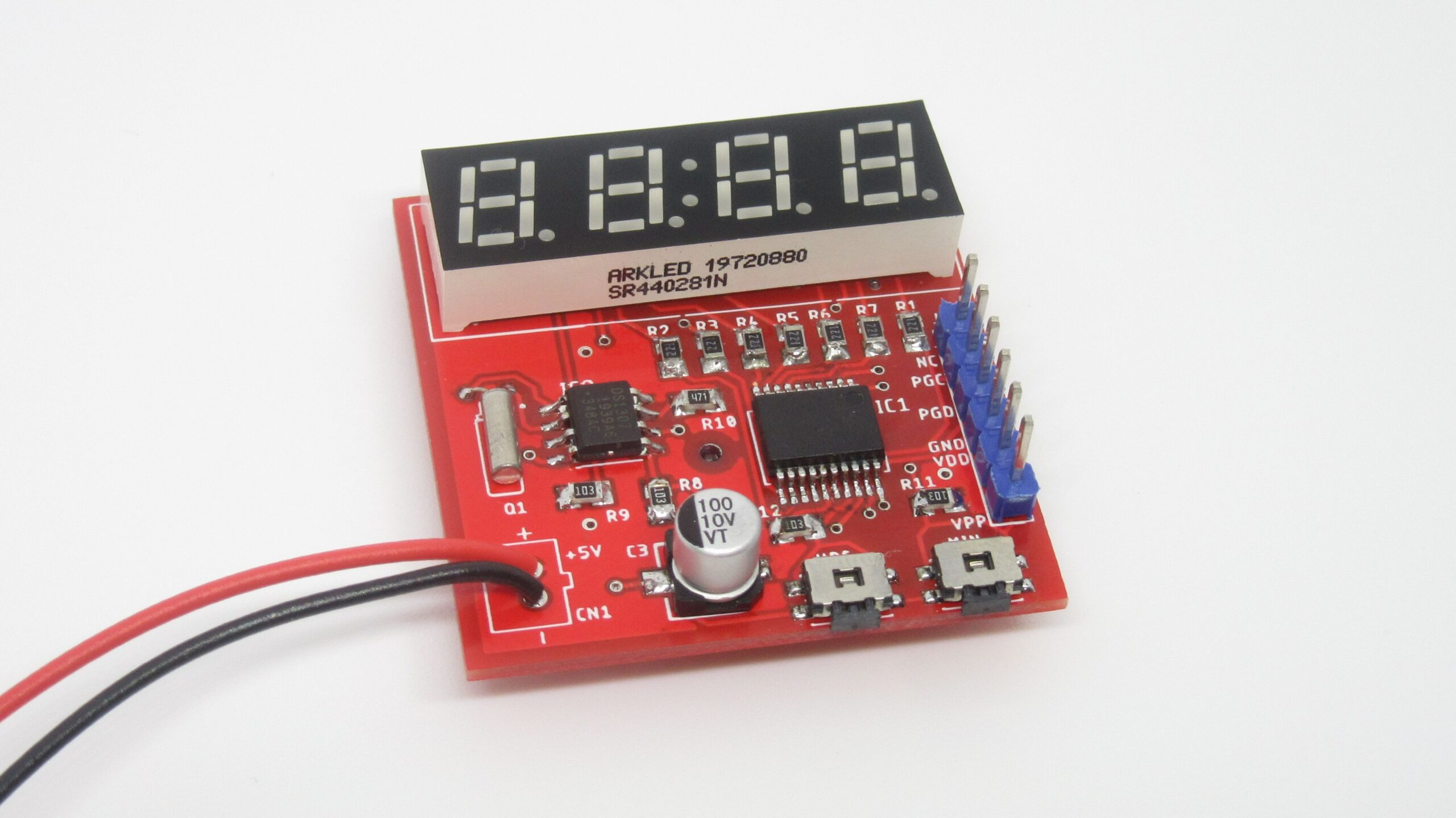 7-segment Mini Clock using PIC16F628A and DS1307 RTC