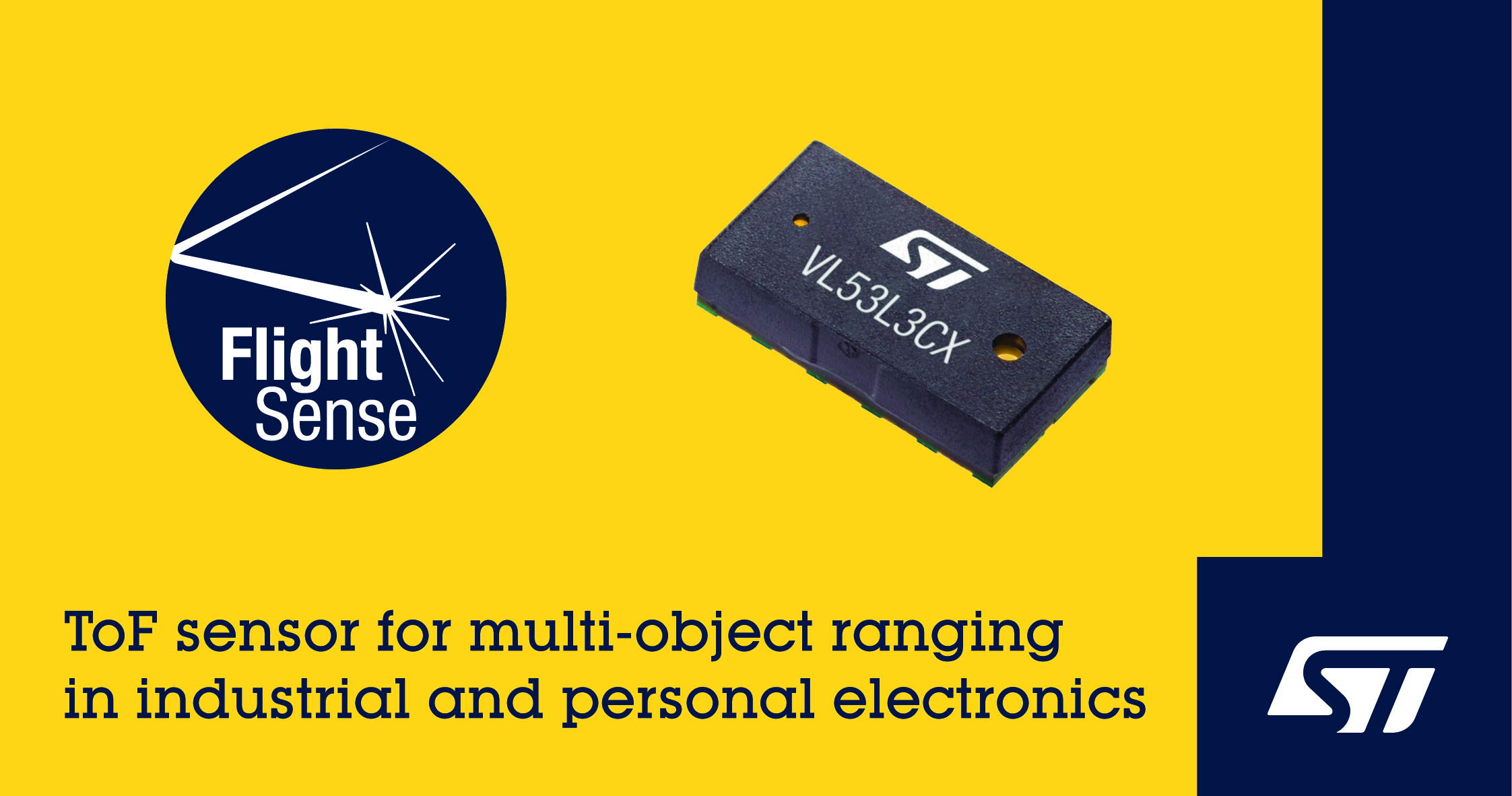 STMicroelectronics Expands Portfolio of FlightSense ToF Ranging Sensors