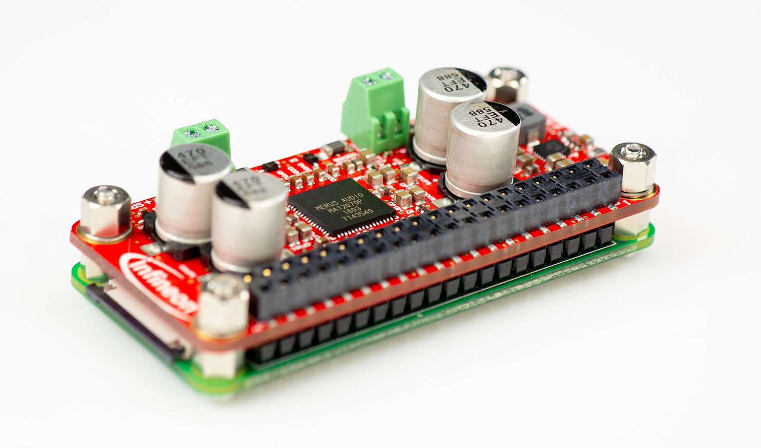 World's first fully self-contained Raspberry Pi audio HAT board with MERUS™ class D multilevel amplifier