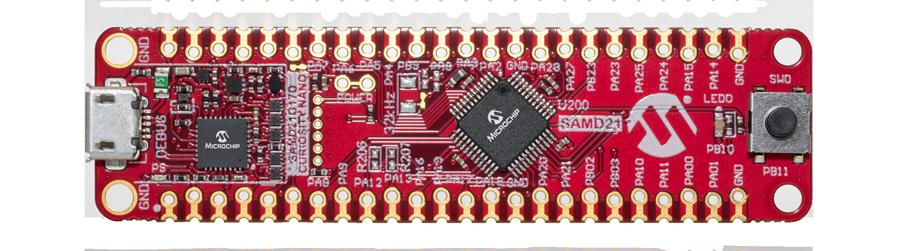 SAM D21 Curiosity Nano Evaluation Kit