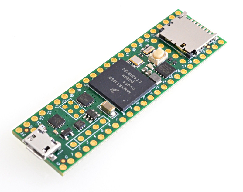 Teensy 4.1 is the first Microcontroller Board to come with 100Mbit Ethernet coupled with 600MHz 32- bit microprocessor