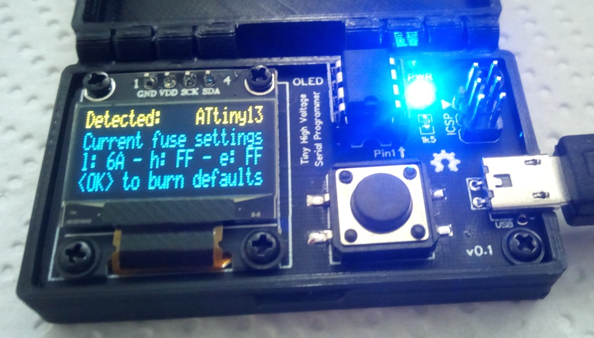 TinyHVSP – High Voltage Serial Programmer based on ATtiny84