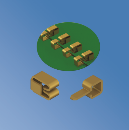 New SMT PCB Connectors to Transmit Signals or Power Across PC Boards