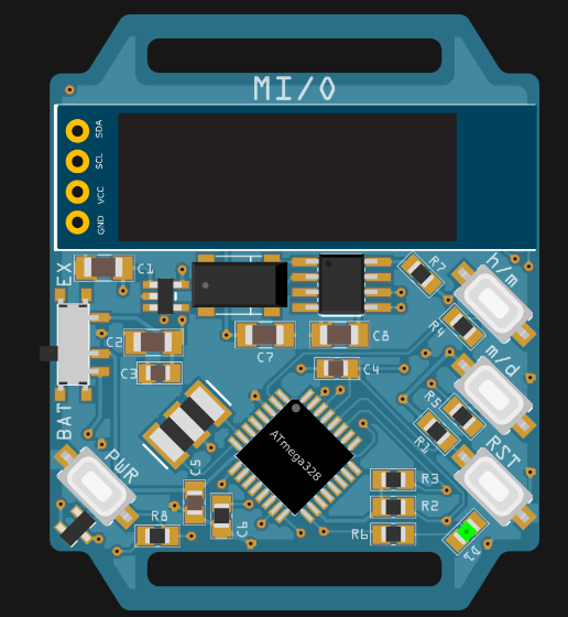 MI/O- ATmega328 Based Smart Watch By Markus Bindhammer
