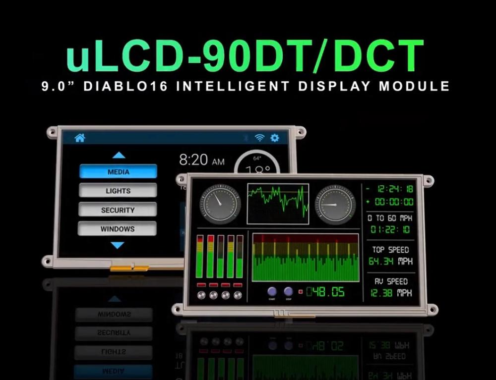 SOS electronic: 9″ intelligent embedded display uLCD-90
