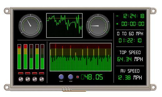 9″ intelligent embedded display uLCD-90