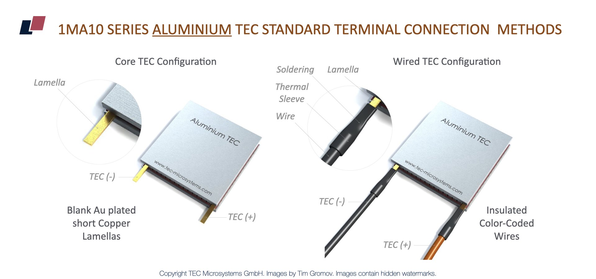 TEC Microsystems Introduces New Thermoelectric Coolers with Aluminum Plates