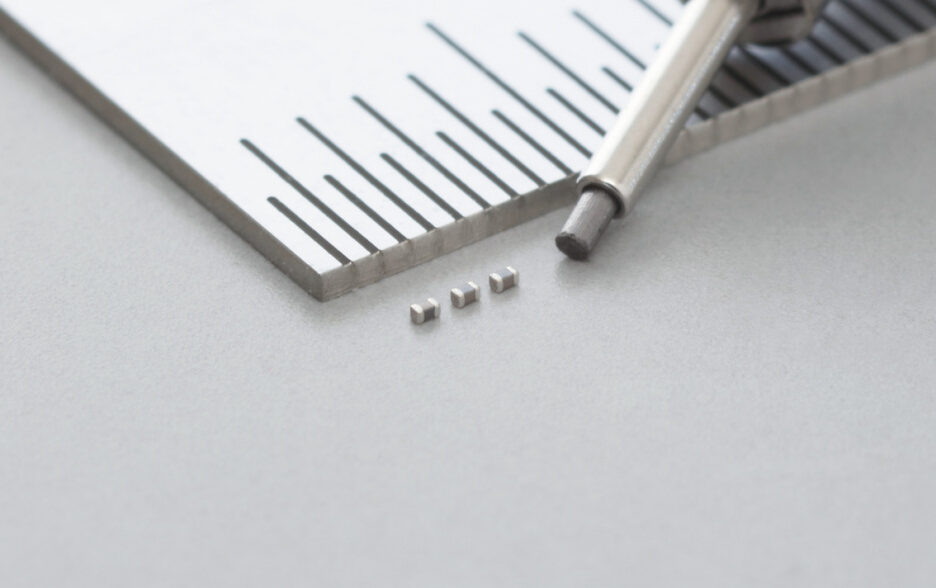 01005 inch Size Multilayer Ceramic Capacitor with a Capacitance Value of 1.0μF