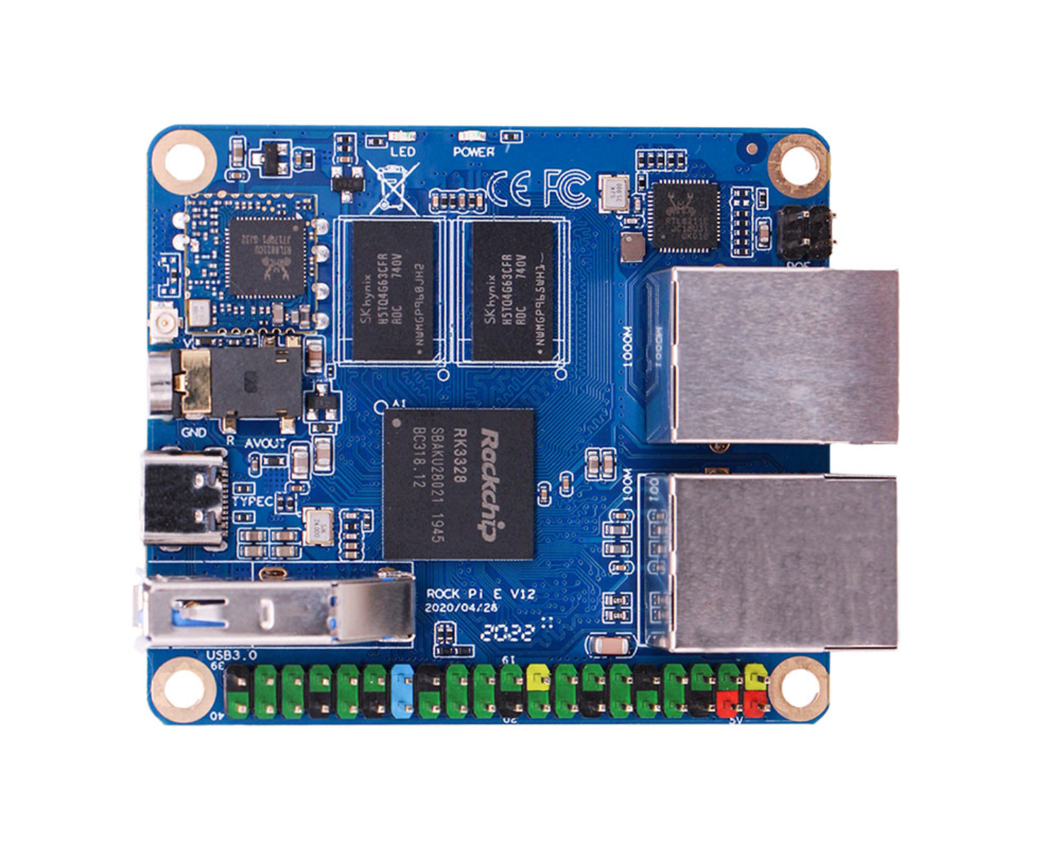 ROCK Pi E SBC Features Rockchip RK3328, With 64bits quad core processor