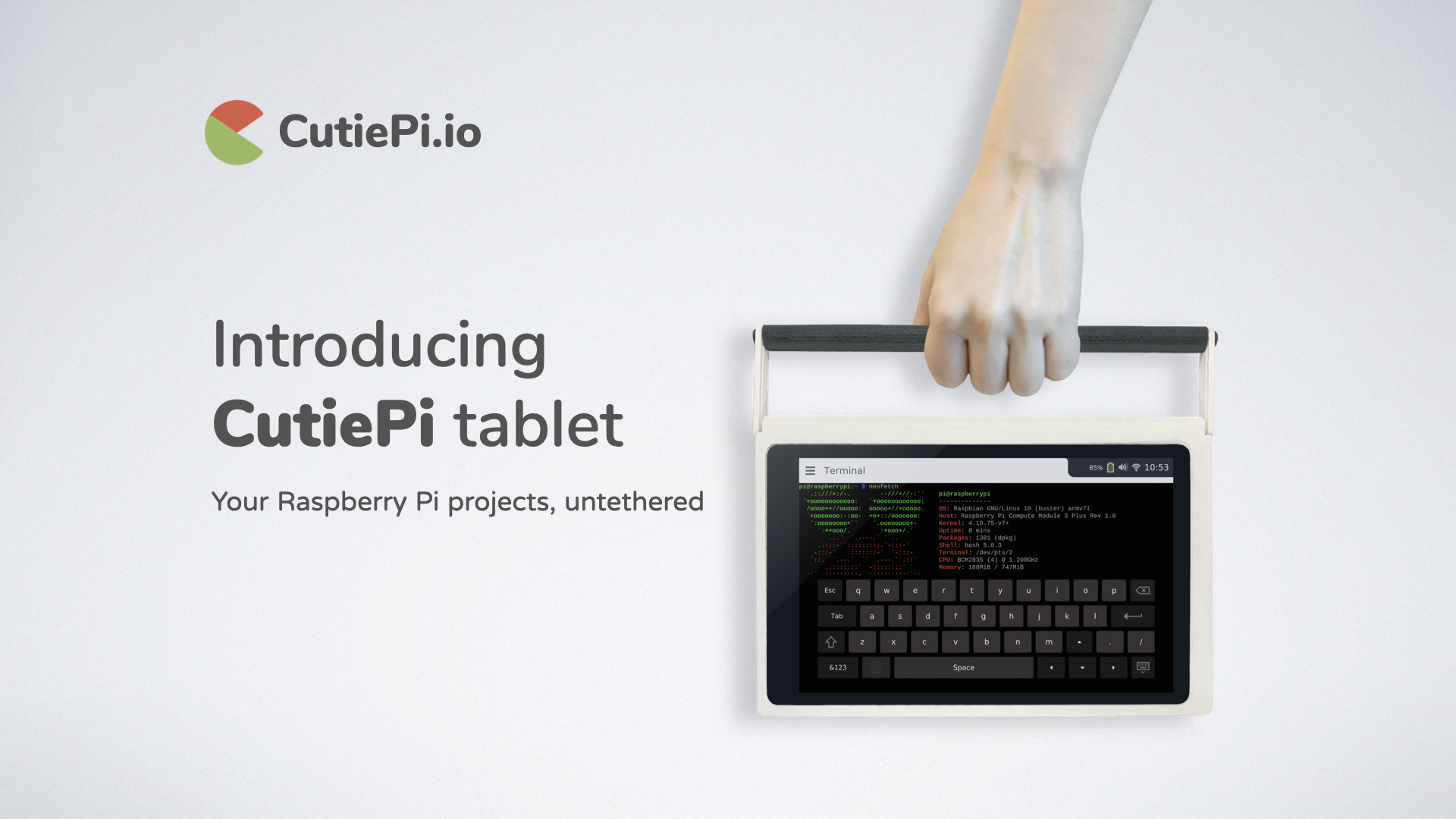 CutiePi Tablet For Your Raspberry Pi Project On The Go