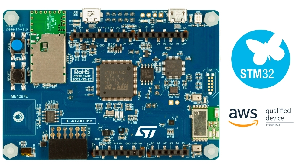 STM32L4+ Discovery kit IoT node, low-power wireless, BLE, NFC, WiFi
