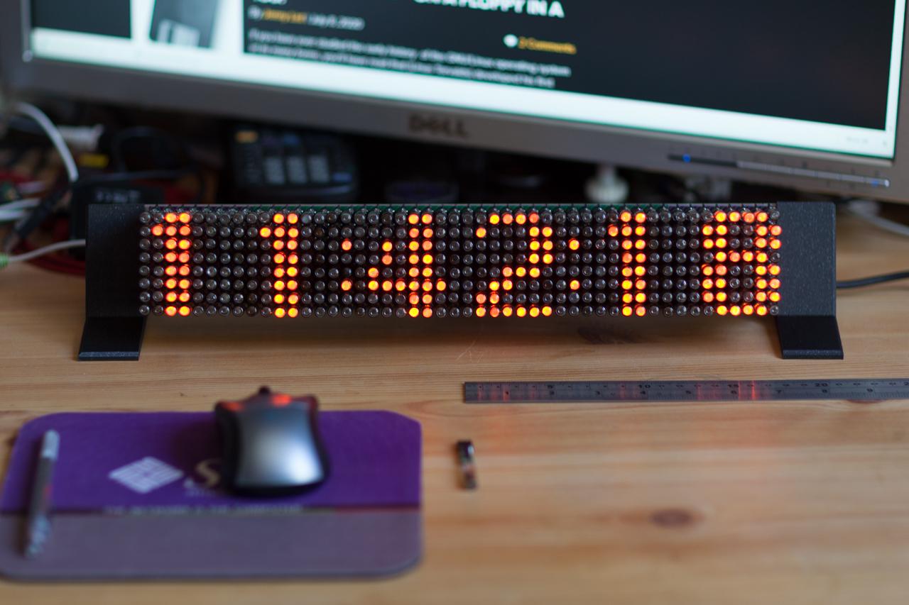 Neon Pixels Matrix Display Clock