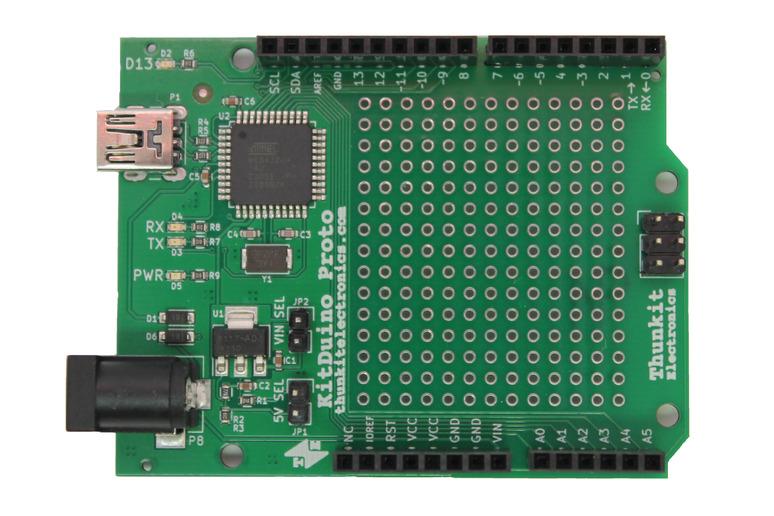 Meet the KitDuino: The Atmega32u4 based Development Board