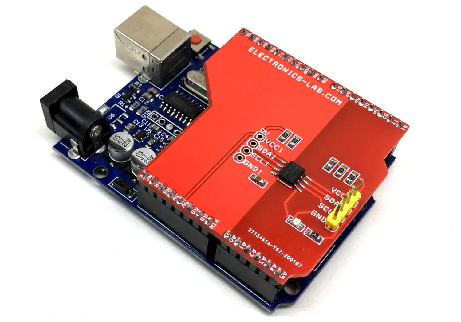 Optically Isolated Bidirectional I2C Shield For Arduino