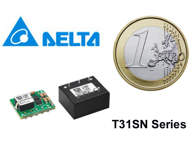 DELTA T31SN 100W DC/DC Family in Compact 1/32 Brick Format