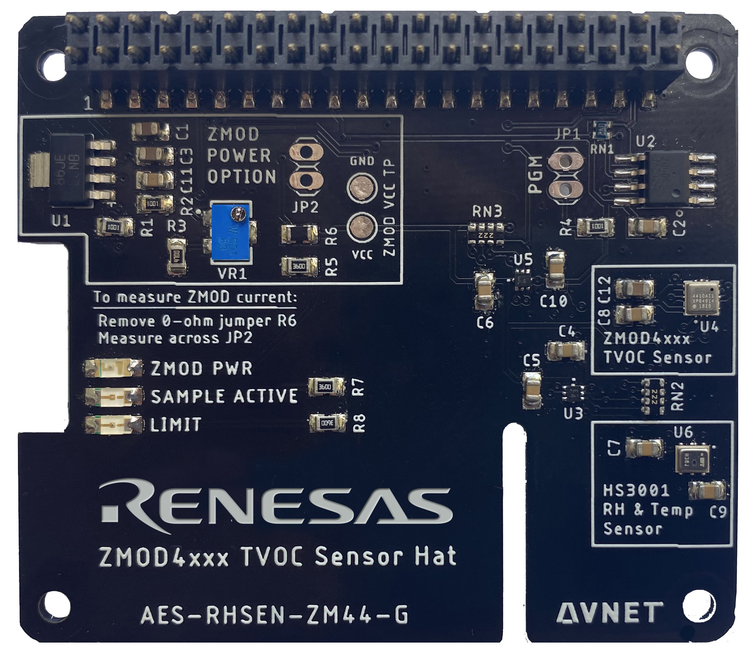 Avnet's Renesas ZMOD4410 Indoor Air Quality HAT for Raspberry Pi
