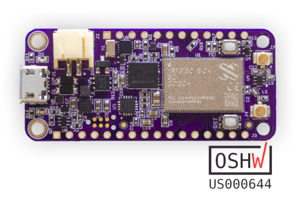 nRF9160 Feather Launches For $99 With GPS Support