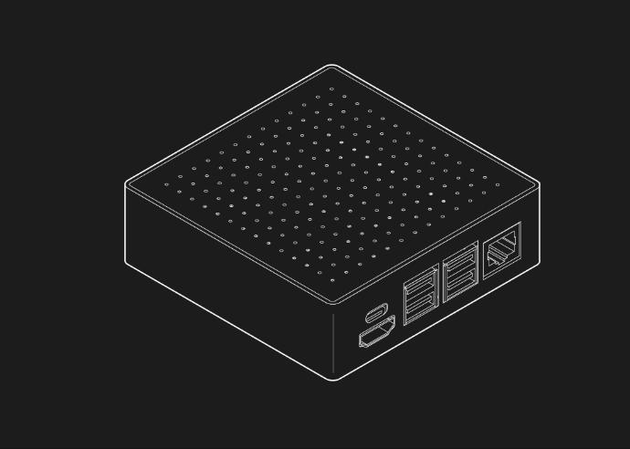 NODE Mini Server V3 Features Raspberry Pi 4 For Server or Mini PC