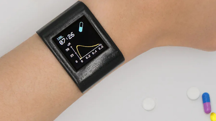 ATmega328-Based Smartwatch Keeps Track Of Drugs In Your System by Analyzing Your Sweat