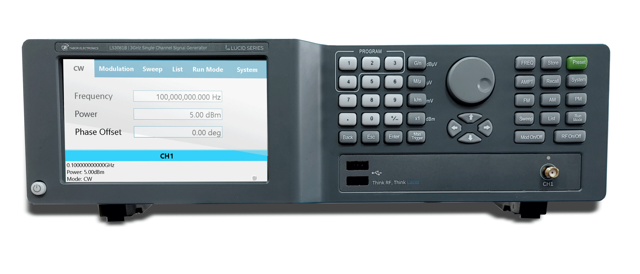 Feature-Rich Tabor LSxxx1B 3/6/12GHz Advanced Touch-Control Benchtop RF Generators