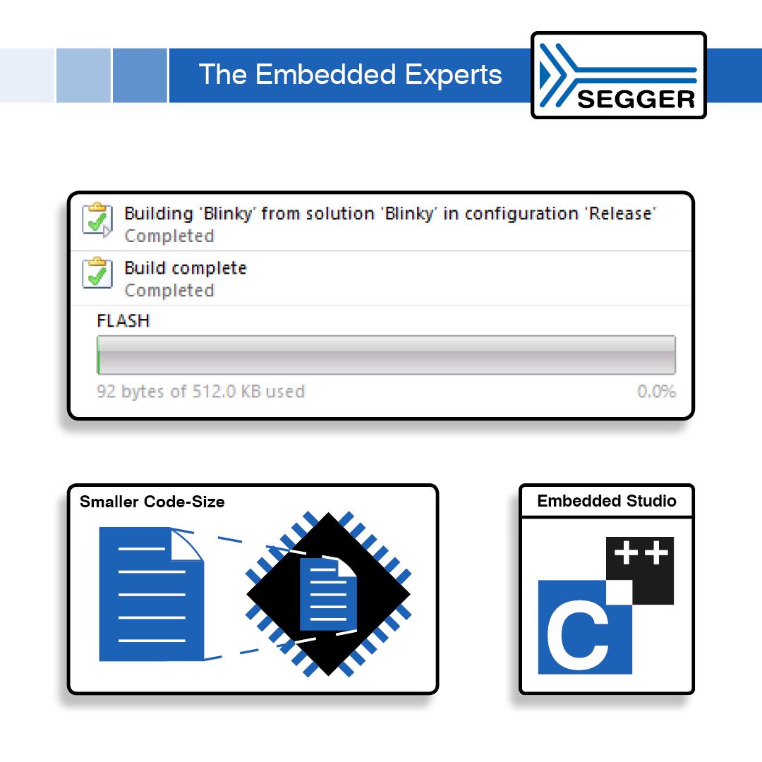 SEGGER Embedded Studio V5 minimizes code size