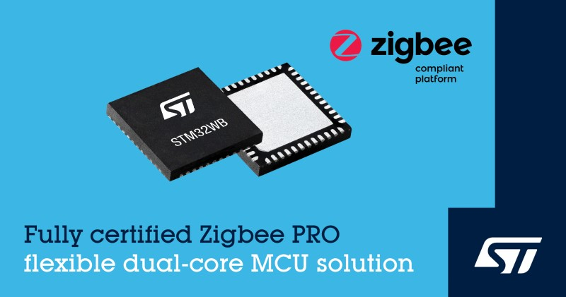 ST Release STM32WB Wireless Microcontrollers with Zigbee® 3.0