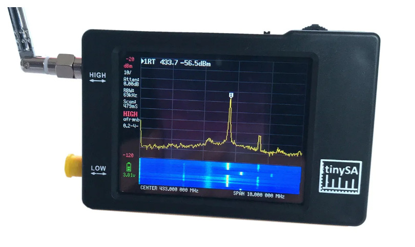 Hugen Launches Portable TinySA Spectrum Analyser