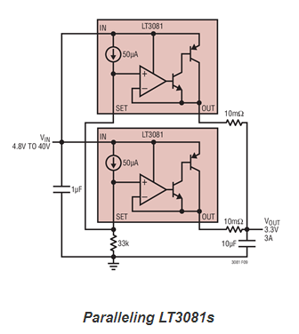 Paralleling linear regulators made easy