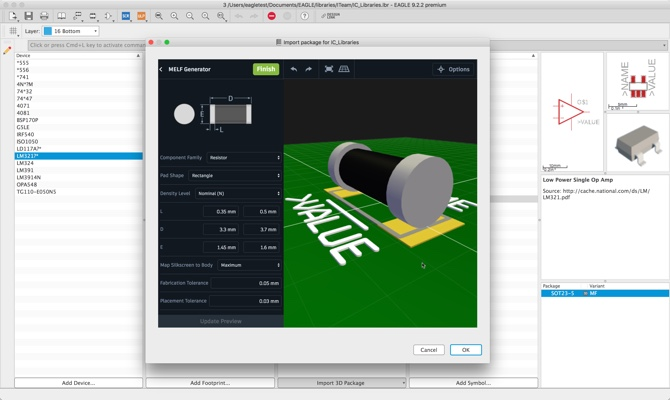 Create manufacturing-ready footprints & 3D models with Autodesk Library.io