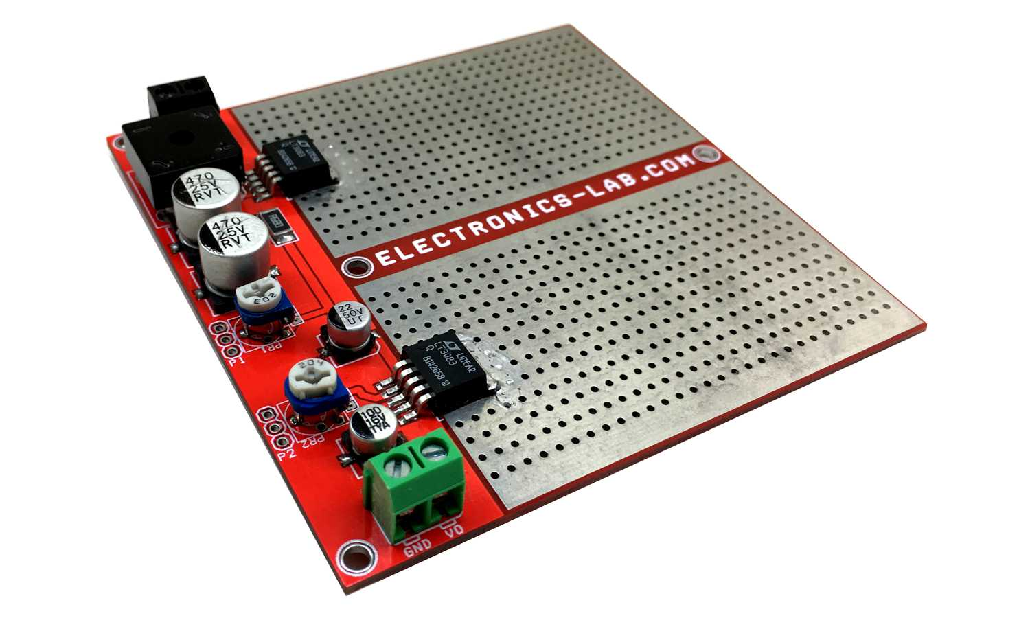 0 to 10 V Adjustable Lab Power Supply with Current Control