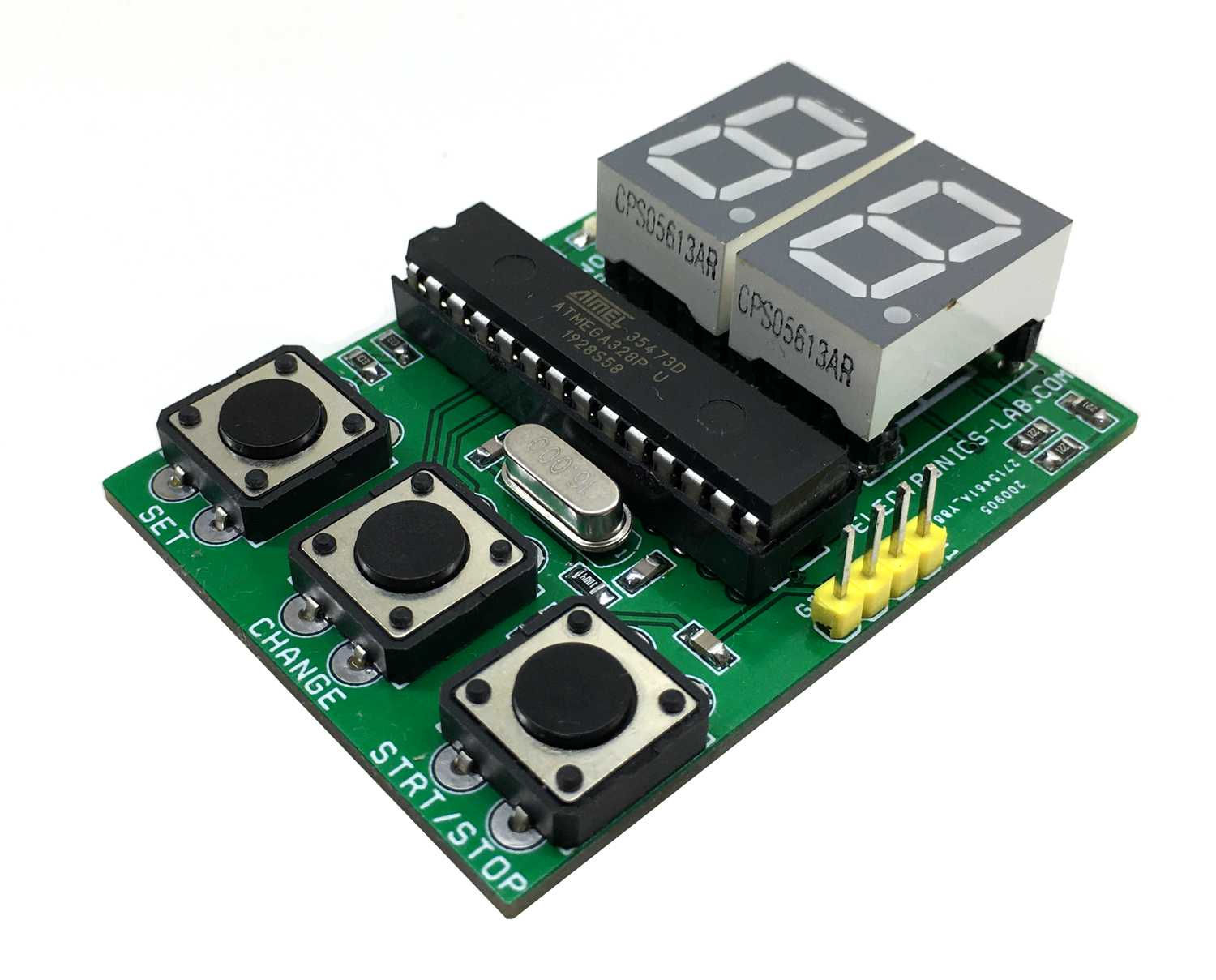 Arduino Compatible 2-digit 7-segment Display Board for Timer/Counter