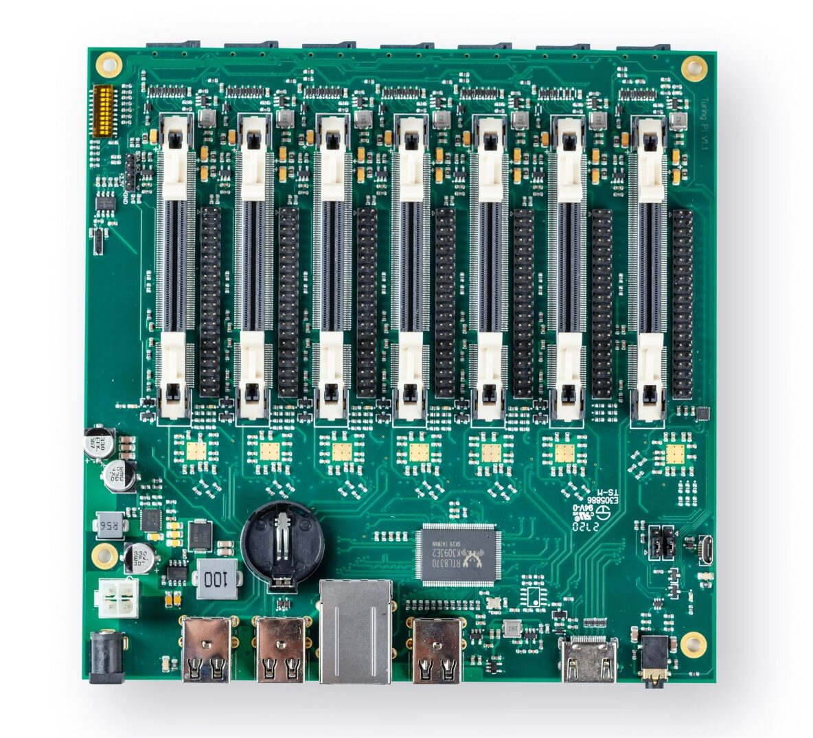 Turing Pi launches its 7-slot Raspberry Pi CM3 cluster board