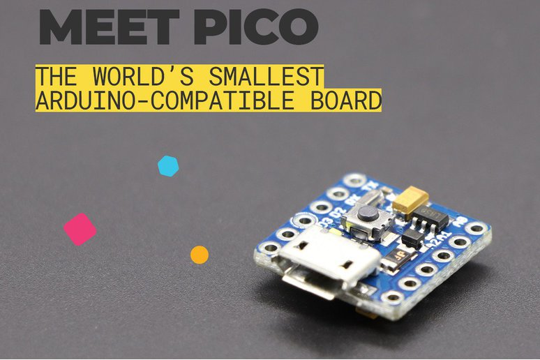 PICO, the Smallest Arduino Compatible Dev. Board