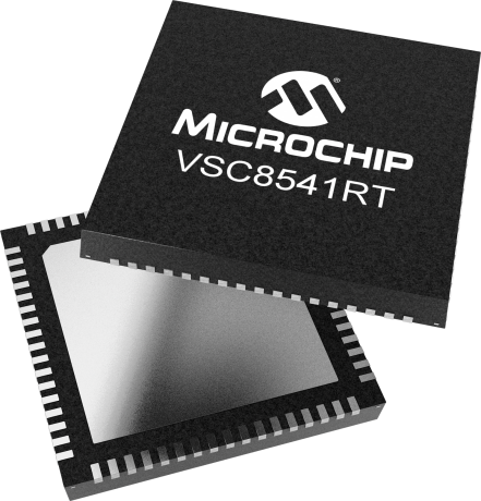 Microchip Announced New VSC8541RT Gigabit Ethernet PHY RMII / RGMII Transceiver