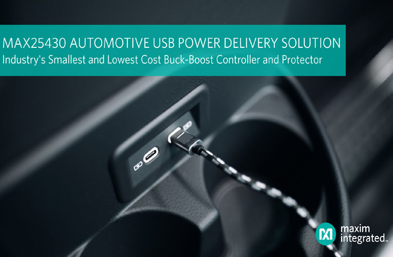 Maxim's Buck-Boost Controller Enables Automotive USB PD Ports in small size