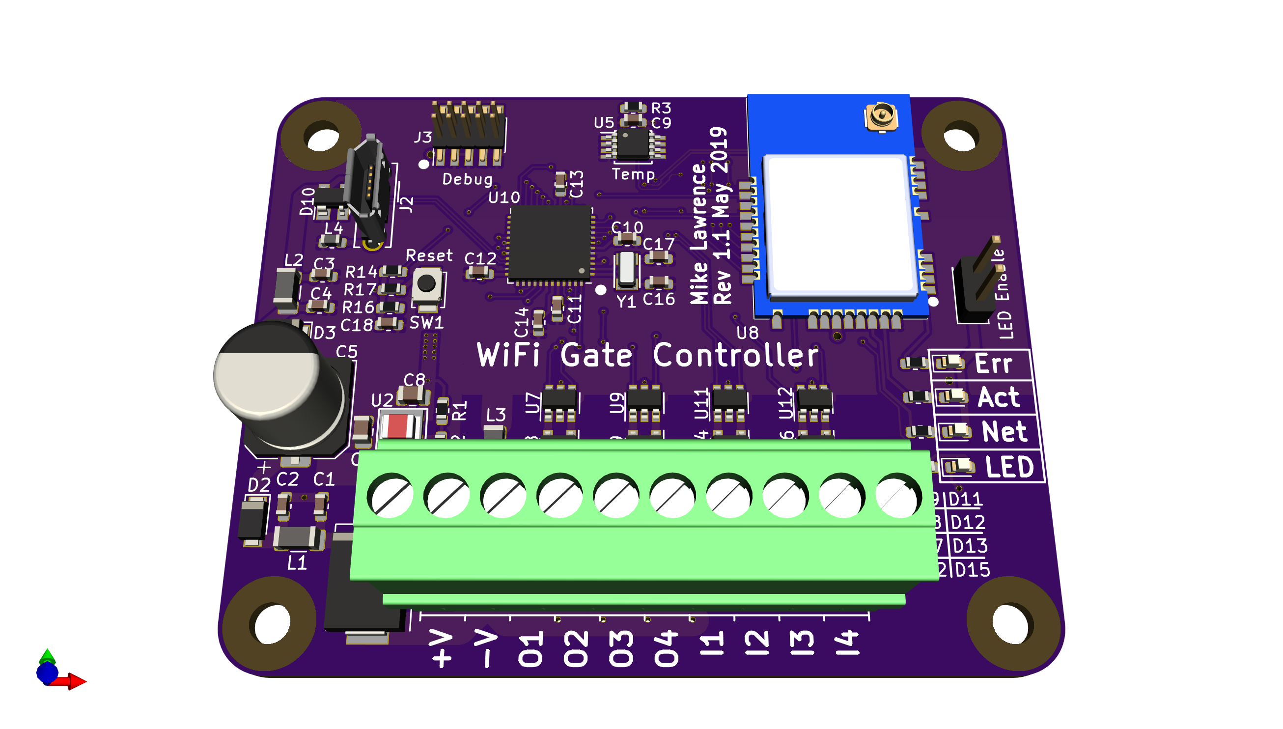 Wifi Gate Controller is Arduino Compatible