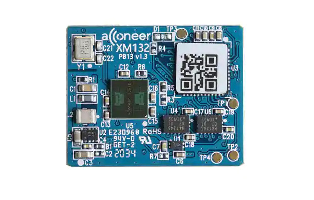 Acconeer's Low-power XM132/XE132 Entry radar module with a solderable design features